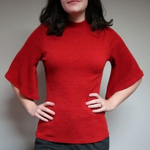 MINKPINK Orange Back Cuttout Sweater with Sleeves